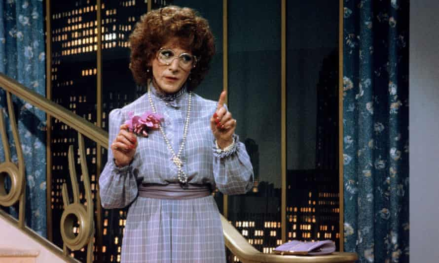 Dressed to impress ... Dustin Hoffman as Tootsie, voted the best film of all time in a poll of actors.