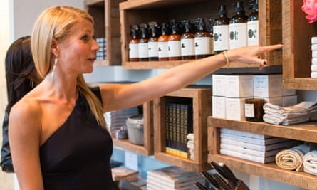 Leading the way: Gwyneth Paltrow at last year's launch party for Goop's pop-up store in Dallas, Texas.