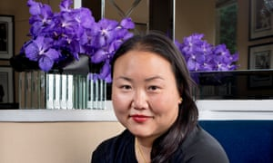 Portrait of the author Hanya Yanagihara in the American Bar at The Savoy, The Strand, Central London