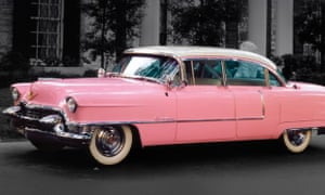 Fit for a king: the big pink Caddie.