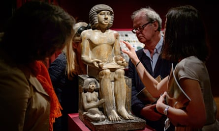 The Northampton Sekhemka at Christie's auction house in central London in June 2014