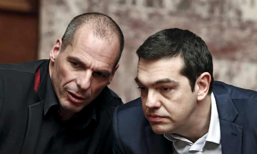 Yanis Varoufakis, and prime minister Alexis Tsipras.