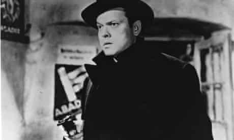Orson Welles in The Third Man: 'dominates the film both by his presence and his absence'.