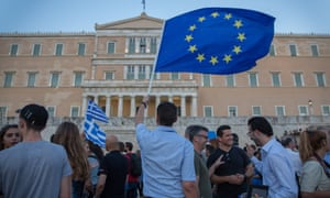 Protesters outside Greek parliament