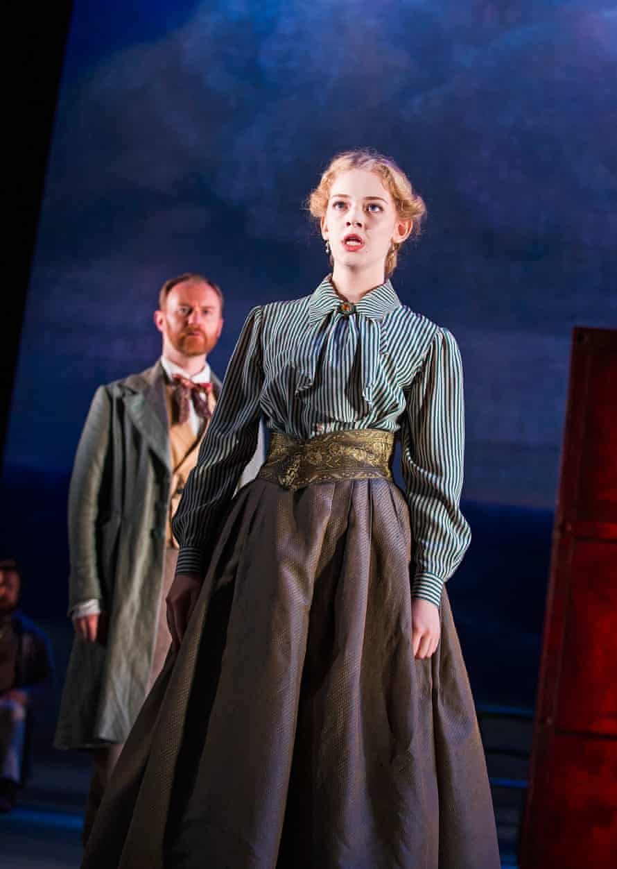 Lily Sacofsky (Vera) and Mark Gatiss (Shpigelsky)  in Three Days In The Country