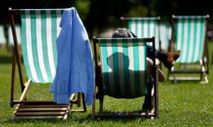 Visitors to Green Park, London, enjoy the sunshine. This weekend could see Britons basking in the sun on the hottest day of the year so far.