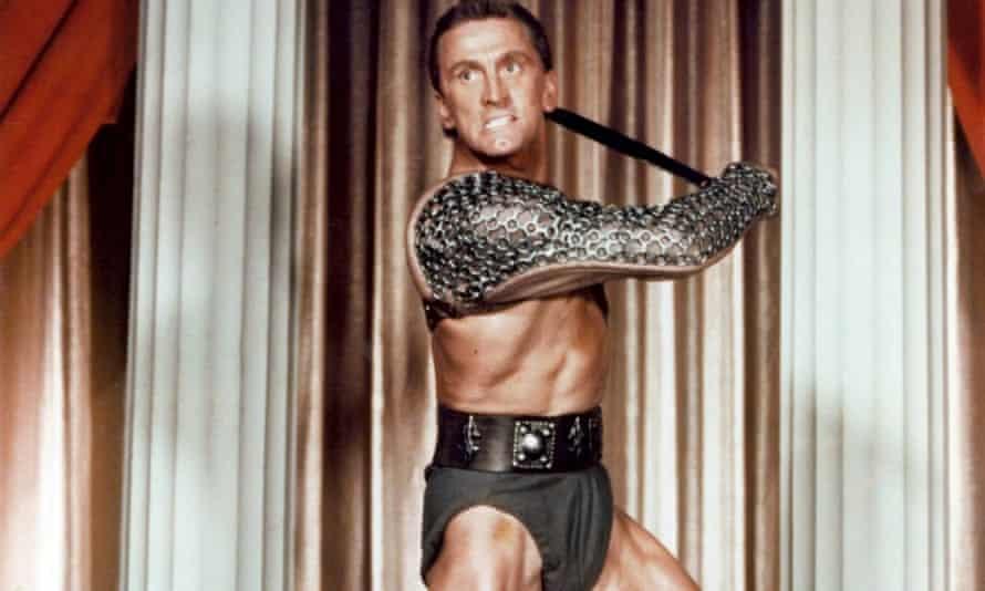 Kirk Douglas in Spartacus.