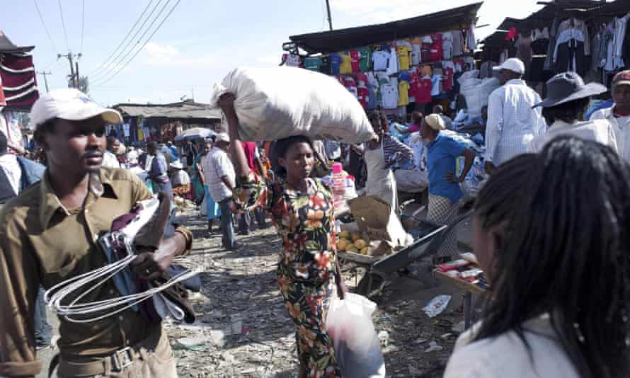 Gikomba market is a hive of activity and a cacophony of colour.