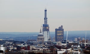The protected view of St Paul's Cathedral as seen from Parliament Hill, while the Shard was still under construction.