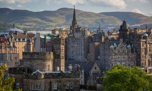 Edinburgh's historic skyline.