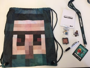 Minecon 2015 swag for every attendee.