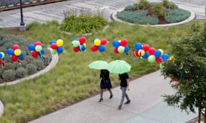 Employees at Google corporate headquarters in Mountain View, California, May 2015.