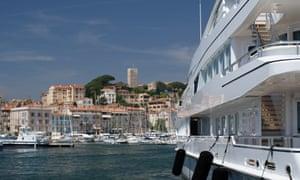 Cannes harbour.