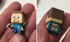 Minecraft Steve mini-figure from Minecon 2015.