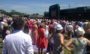 The minute's silence observed at Wimbledon