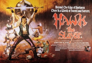 Sword and sorcery … the poster for Hawk the Slayer.