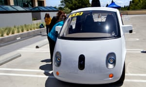 One of Google's self-driving vehicle prototypes.