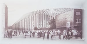 Chelsea stadium … the proposed view from Fulham Road of the West Stand.