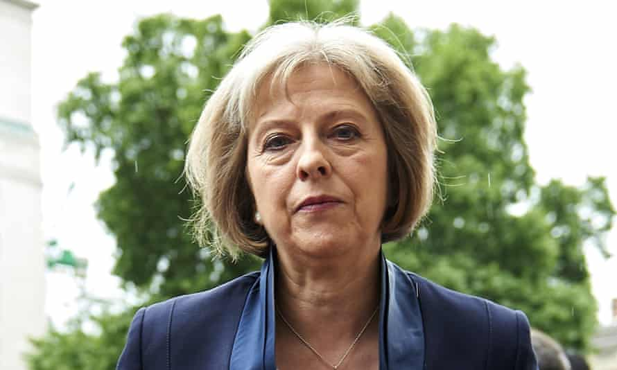 British Home Secretary Theresa May is pictured after addressing media personnel outside the Cabinet Office in London on June 28, 2015, following a COBRA meeting.