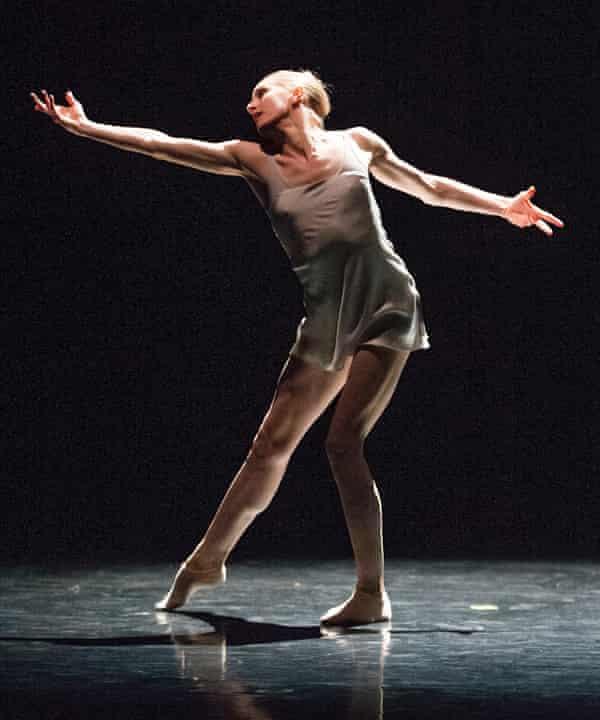 Wendy Whelan dances at the Royal Opera House's  Linbury Studio in 2014.