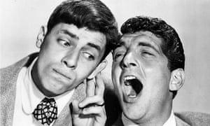 Jerry Lewis, left, with long-time collaborator Dean Martin.