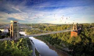 Clifton Suspension Bridge which spans the Avon Gorge in Bristol