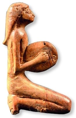 An ivory statue from around 1500 BC.
