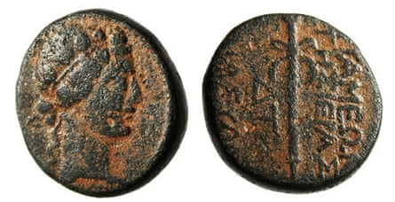 A Syrian coin from around 500 BC, which may have been looted by Isis, and was listed for sale on eBay.