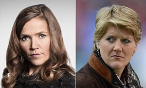 Siobhan Clarke (Jessica Hynes) and Claire Balding.