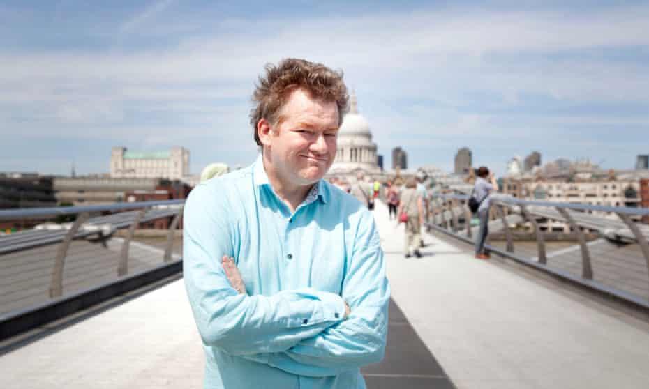 Jonathan Jones on the Millennium bridge in central London.