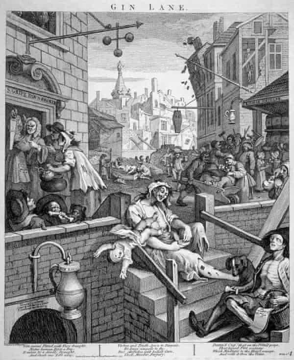 Gin Lane, 1751, by William Hogarth.