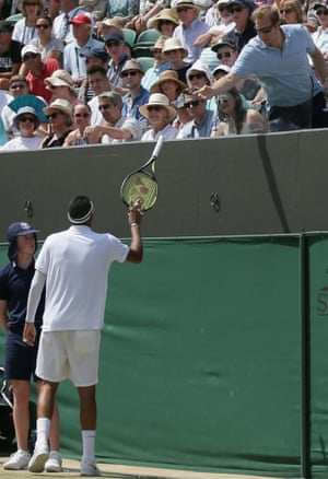 Nick Kyrgios gets his racket back.