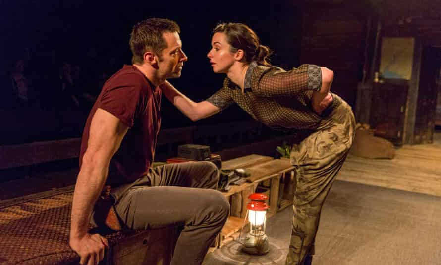 Hugh Jackman, left, and Laura Donnelly, in The River, first seen at London's Royal Court.