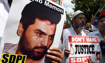 Poster at a protest agains the execution of Yakub Memon.