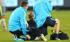 Fabian Delph has been given assurances he will feature in midfield but he suffered a hamstring injury on his Manchester City debut in a friendly in Australia.