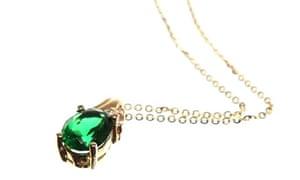 Joan's emerald necklace