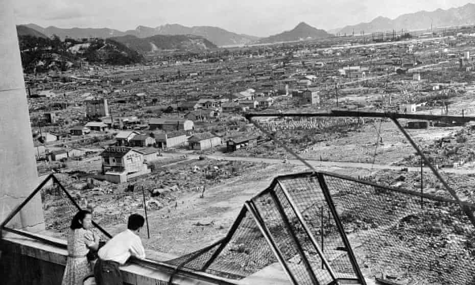 The devastated city of Hiroshima some three years after the US dropped an atomic bomb on it.