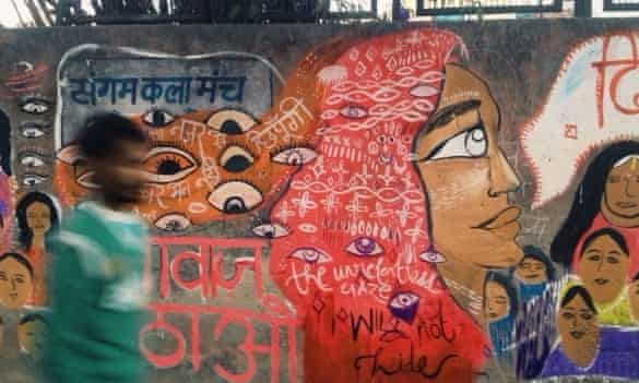 Since the wall near an abuse hotspot in Delhi was painted last December, the situation has greatly improved and fewer women are harassed