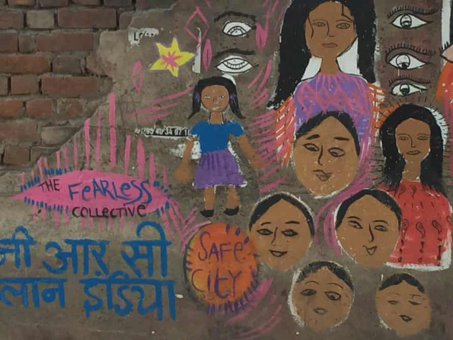 Since the wall near an abuse hotspot in Delhi was painted last December, the situation has greatly improved and fewer women are harassed.