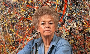 TERI HORTON paid $5 for this painting, believed to be an original Jackson Pollock