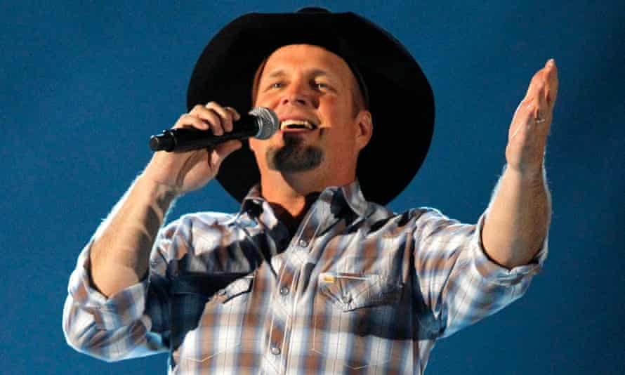 Garth Brooks performs at the ACM Awards in Las Vegas.