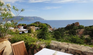 View of Gulf of Tortolì from Monte Turri restaurant.