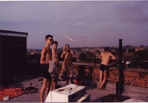 Geoff Dyer, far left, in Brixton in the 1980s.