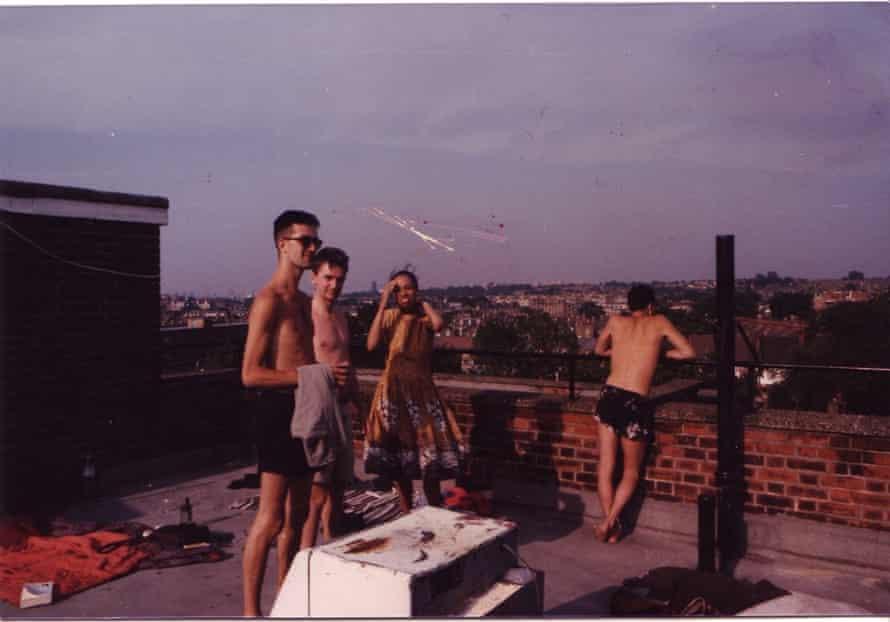 Geoff Dyer, far left, in Brixton in the 1980s.