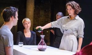 Jessica Brown Findlay as Elektra in Oresteia at Almeida theatre, north London.