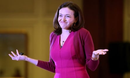 Sandberg speaks during a session in New Delhi, India