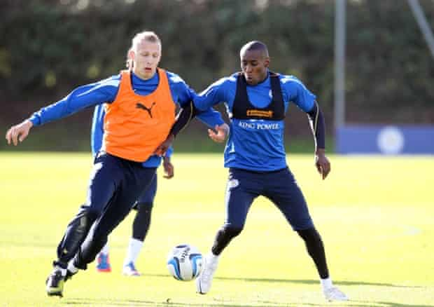 Leicester City players using the STATSports Viper, which slots into a compression vest and records impact, acceleration and more.