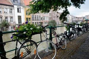 Kraanlei in the centre of Ghent, Belgium.
