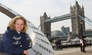 Mara Yamauchi before the Flora London Marathon  in 2009, where she came second and ran a PB of 2:23:12