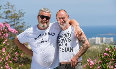 'We're pretty explicit friends' … Tobias Rehberger (left) with Douglas Gordon at MACE Ibiza.